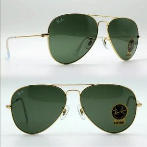 New Rayban classic Aviator RB 3025 gold with green